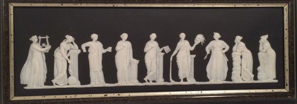 Wedgwood black and white jasperware plaque